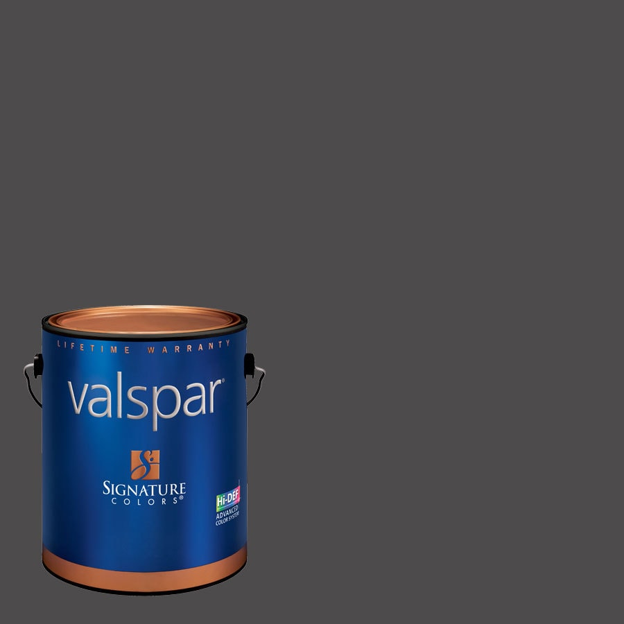 Valspar Lincoln Cottage Black Semi-Gloss Latex Interior Paint and Primer in One (Actual Net Contents: 126.69-fl oz)