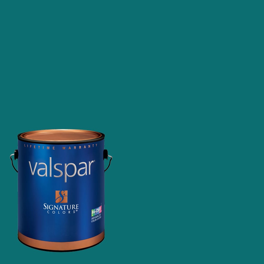 Valspar Gypsy Teal Semi-Gloss Latex Interior Paint and Primer in One (Actual Net Contents: 125.9-fl oz)