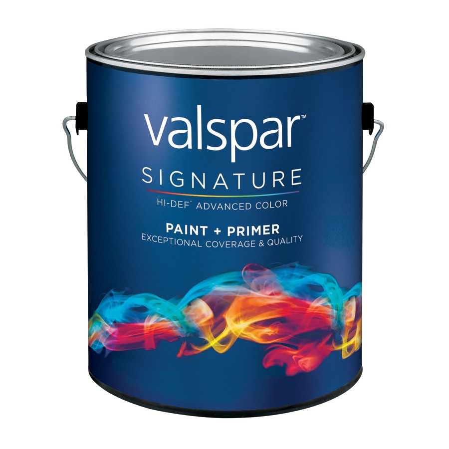 Valspar Signature White Satin Latex Interior Paint and Primer in One (Actual Net Contents: 128-fl oz)