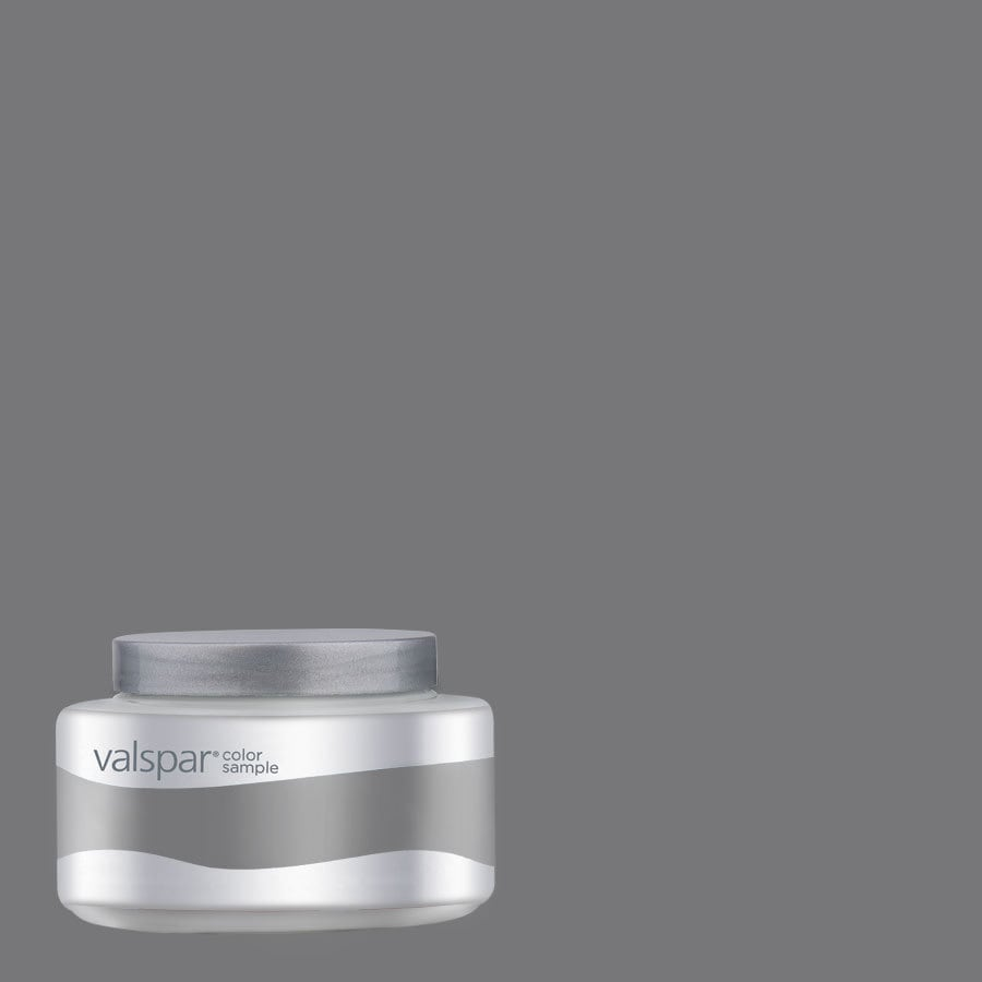Valspar Pantone Charcoal Gray Interior Satin Paint Sample (Actual Net Contents: 8.02-fl oz)