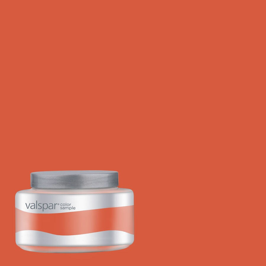 Valspar Pantone Tangerine Tango Interior Satin Paint Sample (Actual Net Contents: 8-fl oz)