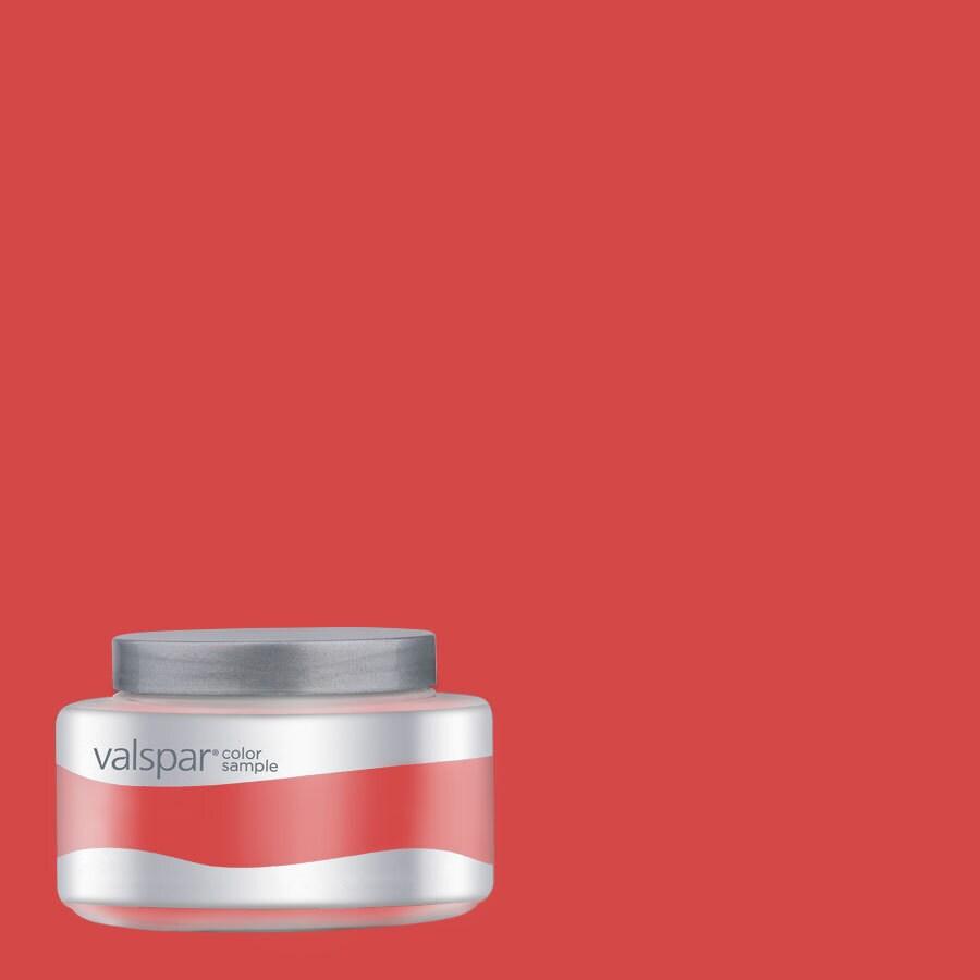 Valspar Pantone Poppy Red Interior Satin Paint Sample (Actual Net Contents: 8-fl oz)