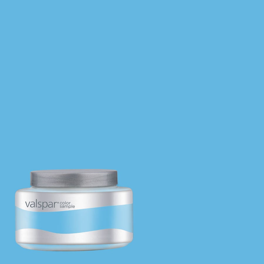Valspar Pantone Ethereal Blue Interior Satin Paint Sample (Actual Net Contents: 8.05-fl oz)