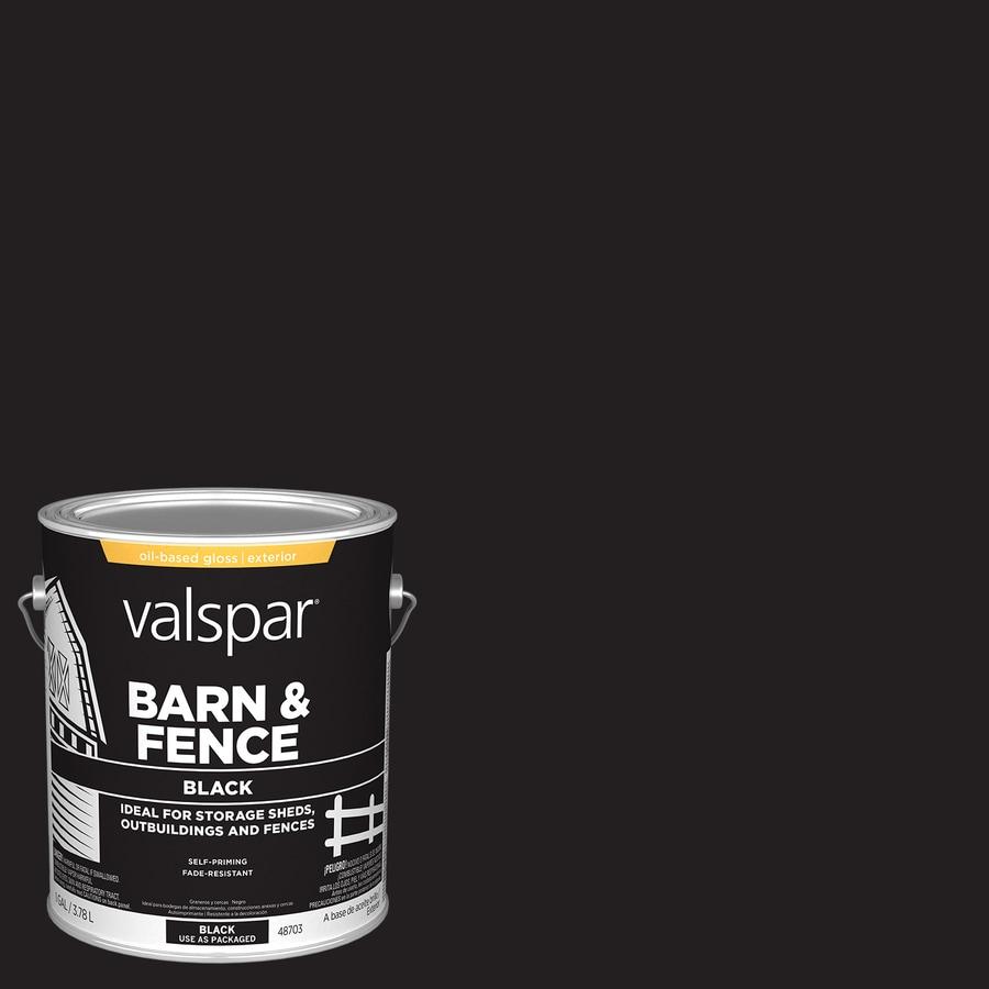 Valspar Barn and Fence Black Gloss Exterior Paint (Actual Net Contents: 128-fl oz)