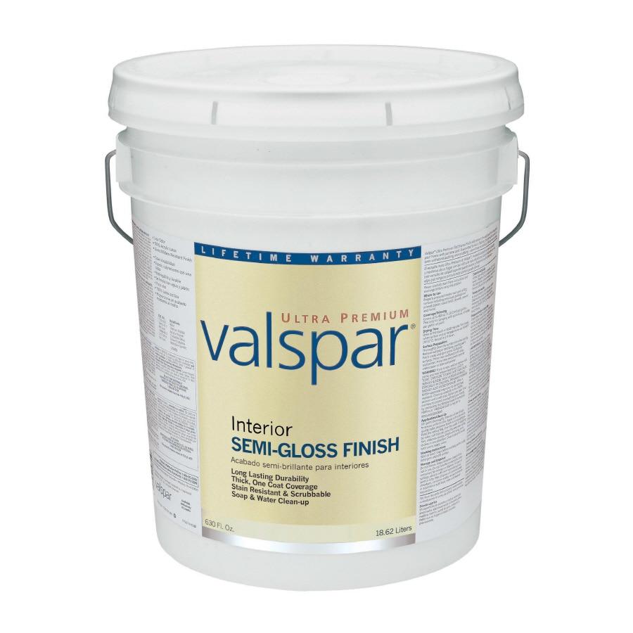 Valspar Ultra Premium 5-Gallon Interior Semi-Gloss Tintable Latex-Base Paint