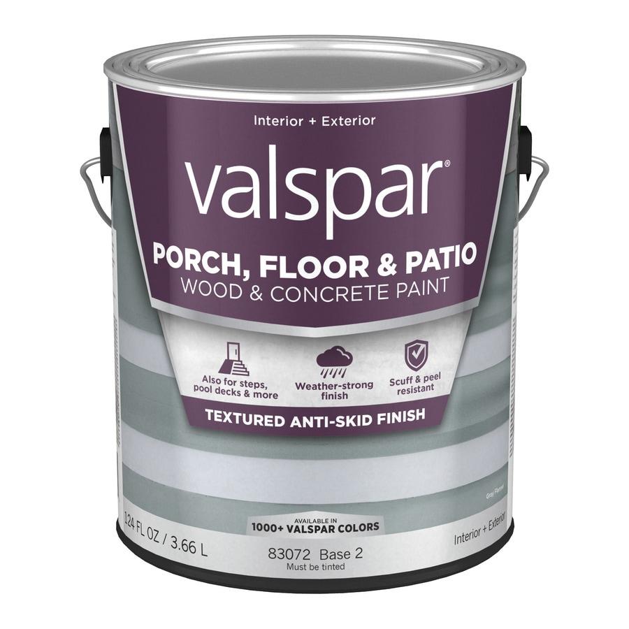Shop Valspar Anti Skid Porch And Floor Satin Interior Exterior Paint Actual Net Contents 124