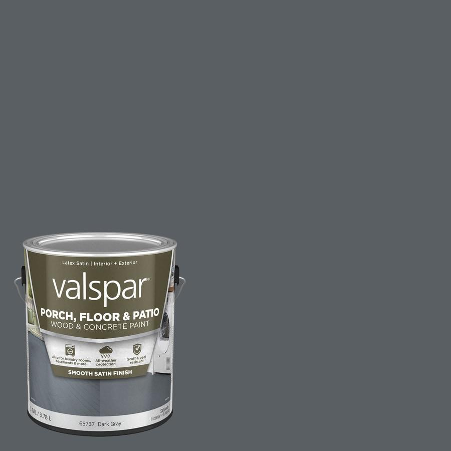 Valspar Porch and Floor Dark Gray Satin Interior/Exterior Paint (Actual Net Contents: 128-fl oz)