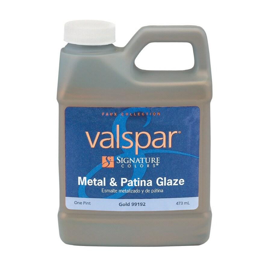 Valspar Signature Colors Pint Size Container Interior Satin Gold Latex-Base Paint (Actual Net Contents: 16-fl oz)