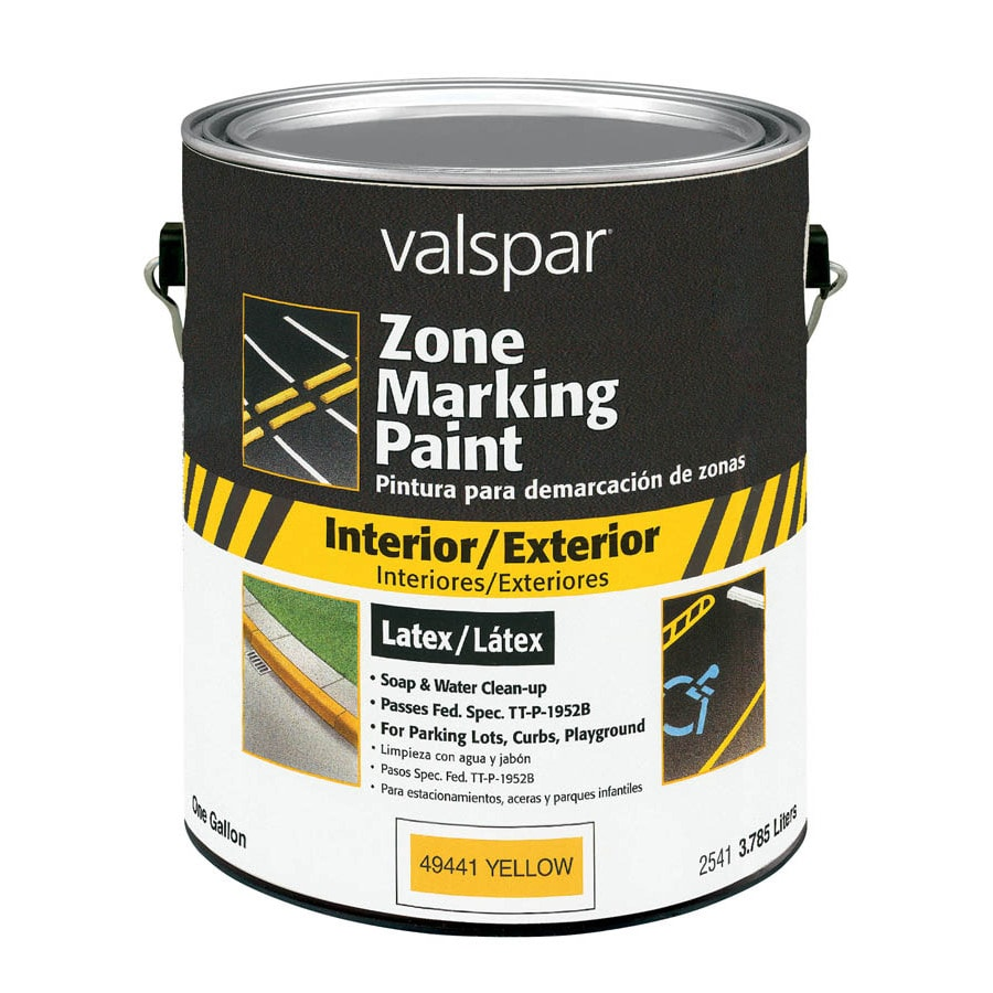 Valspar Gallon Interior/Exterior Flat Yellow Paint