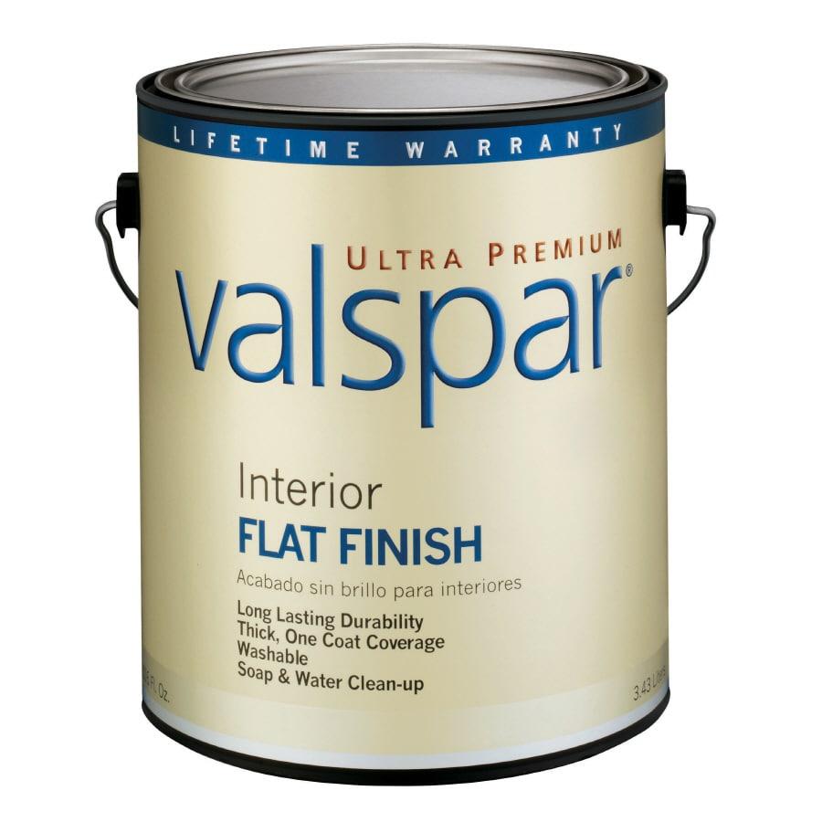 Valspar Ultra Premium 1-Gallon Interior Flat Ultra White Latex-Base Paint