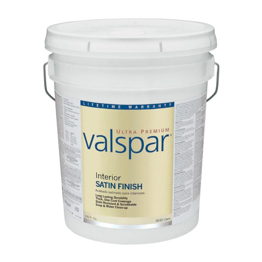 Valspar Ultra Premium 5-Gallon Interior Satin Ultra White Latex-Base Paint