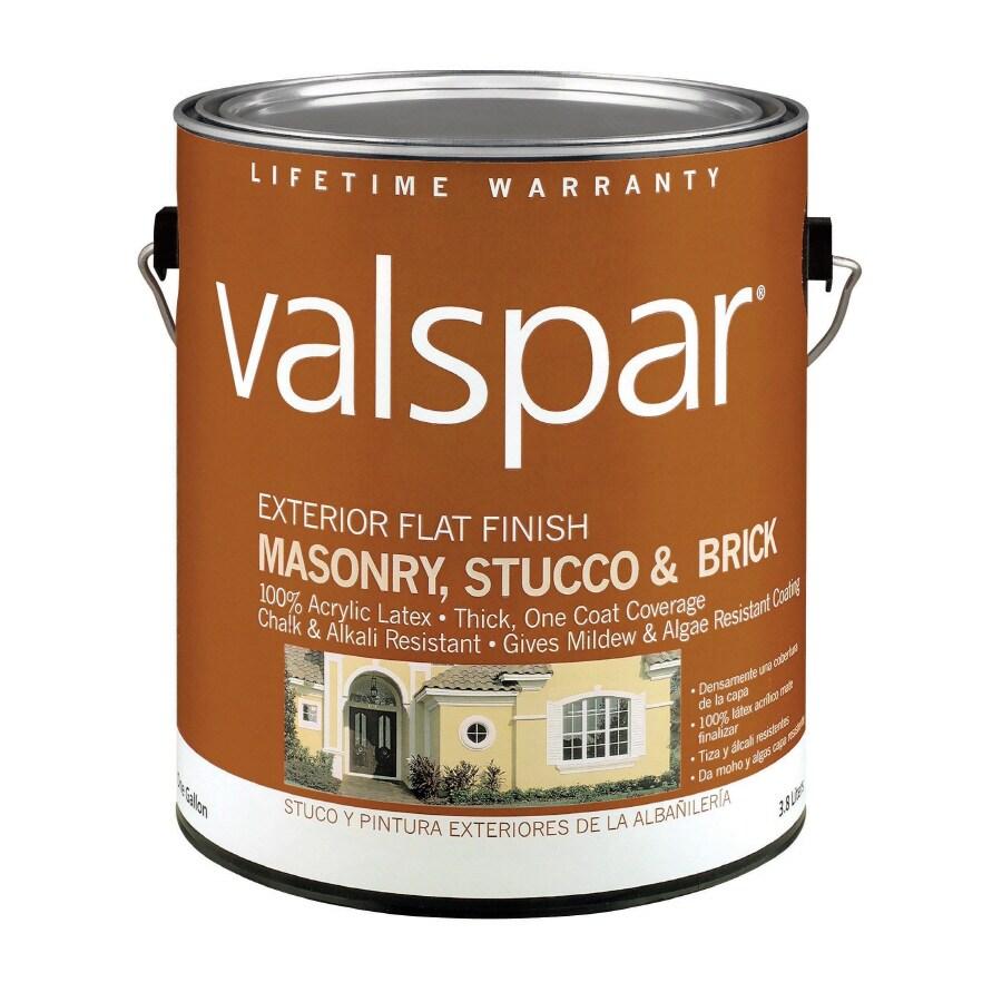 Valspar Gallon Size Container Exterior Flat Tintable Latex-Base Paint (Actual Net Contents: 116-fl oz)