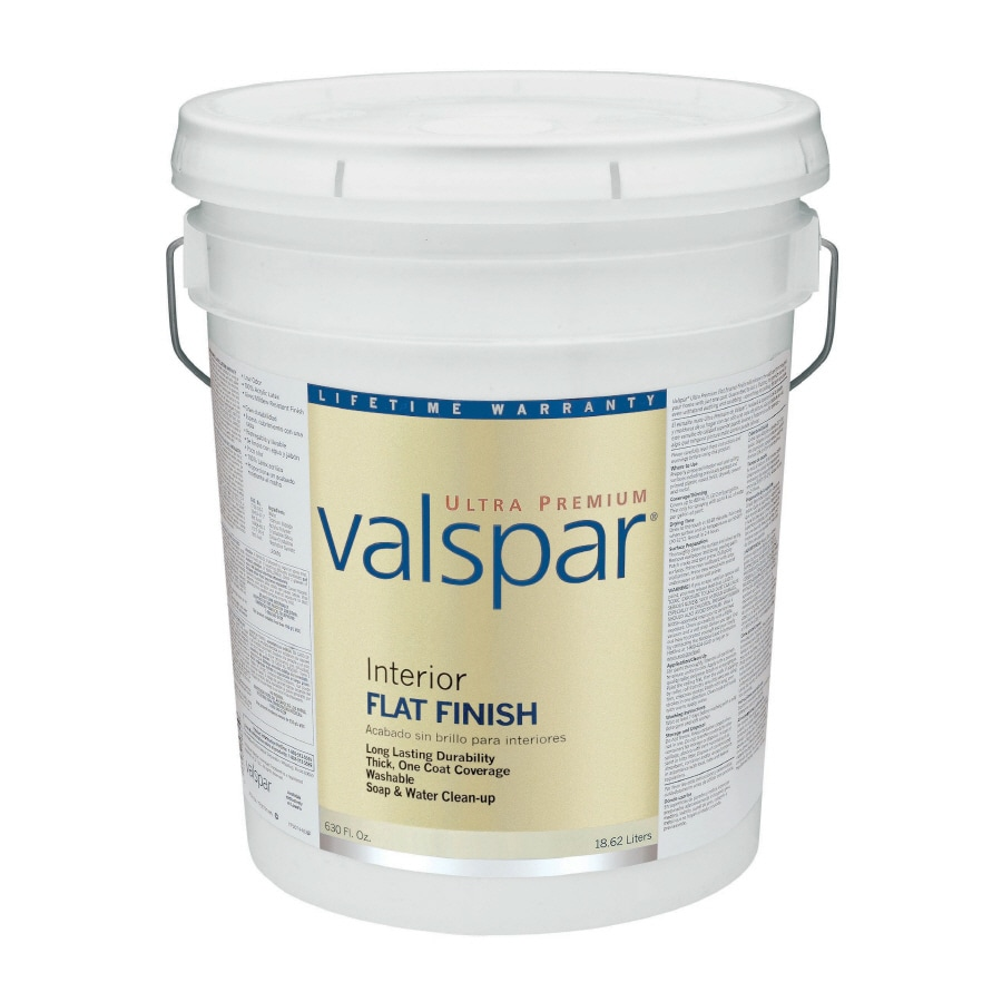 Valspar Ultra Premium 5-Gallon Interior Flat Ultra White Latex-Base Paint