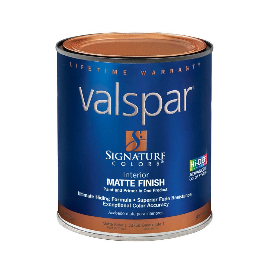 Valspar Signature Colors 1-Quart Interior Matte Tintable Latex-Base Paint and Primer in One
