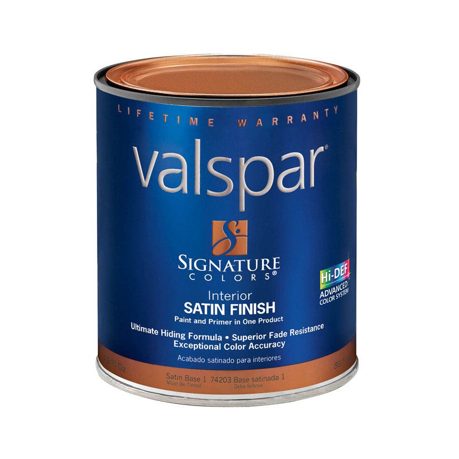 Valspar Signature Colors 1-Quart Interior Satin Tintable Latex-Base Paint and Primer in One