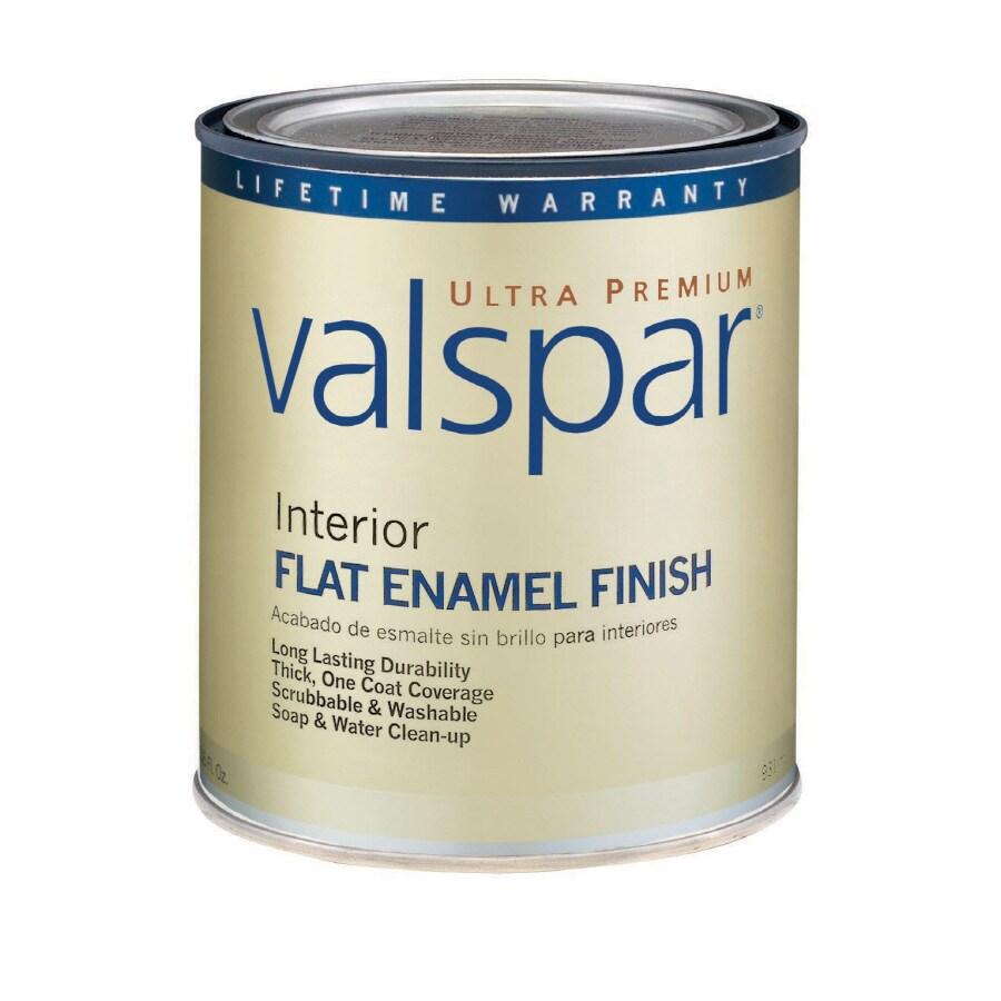 Valspar Ultra Premium 1-Quart Interior Flat Enamel Ultra White Latex-Base Paint