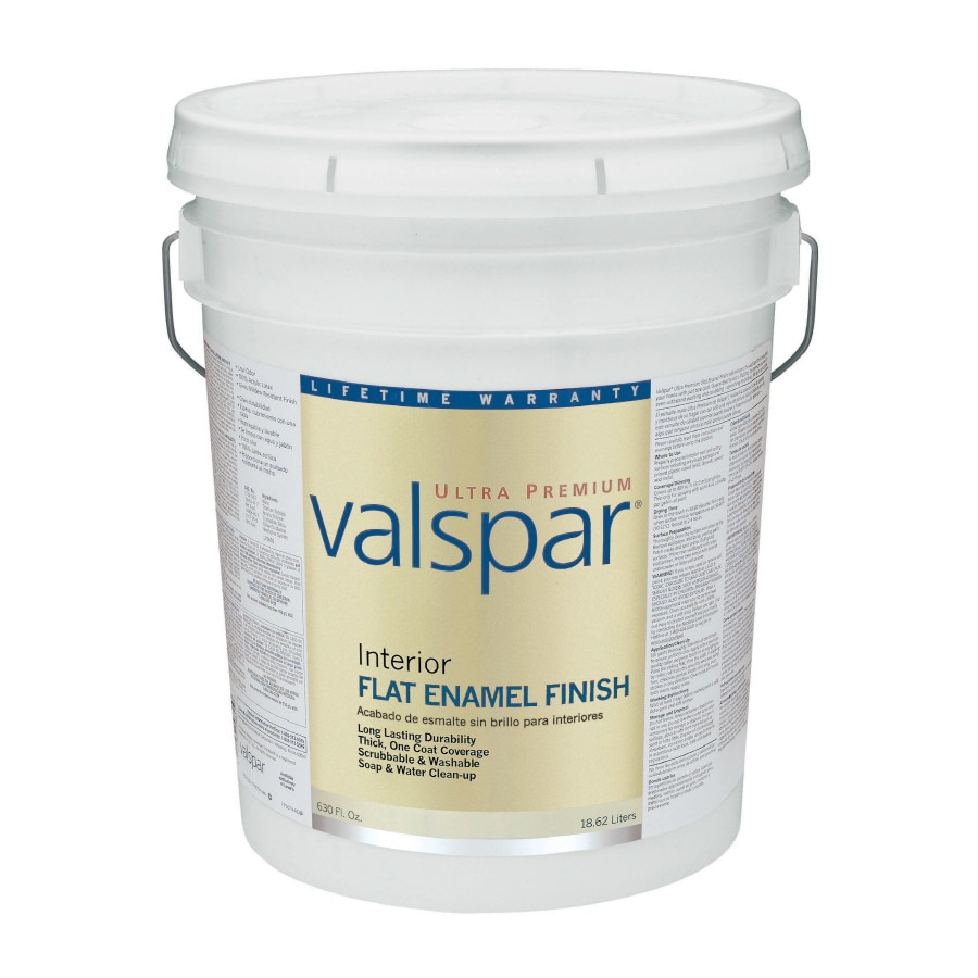 Valspar Ultra Premium 5-Gallon Interior Flat Enamel Ultra White Latex-Base Paint