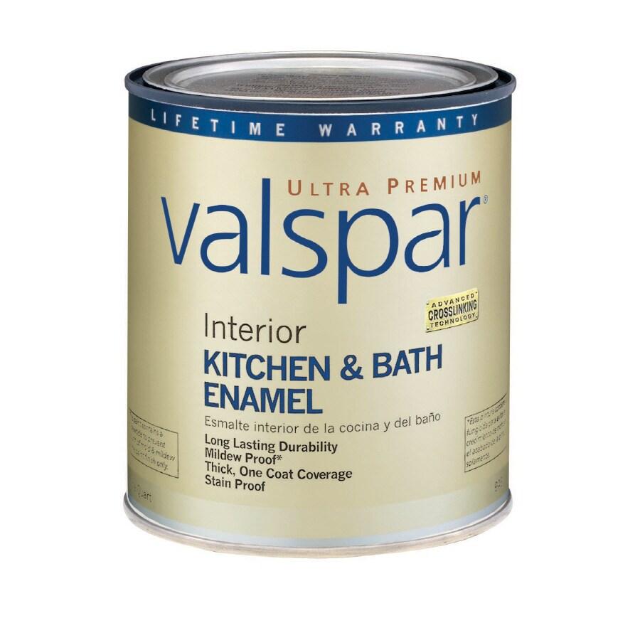 Valspar Ultra Premium 1-Quart Interior Soft-Gloss Kitchen and Bath Tintable Latex-Base Paint
