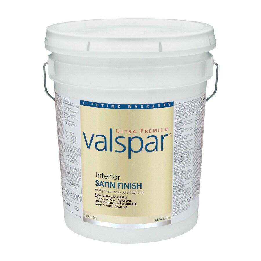 Valspar Ultra Premium 5-Gallon Interior Satin Tintable Latex-Base Paint