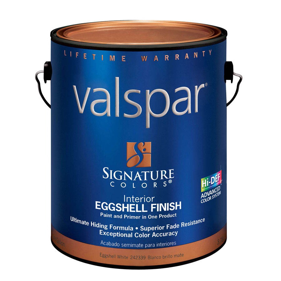 Valspar Signature Colors Gallon Interior Eggshell White Paint and Primer in One