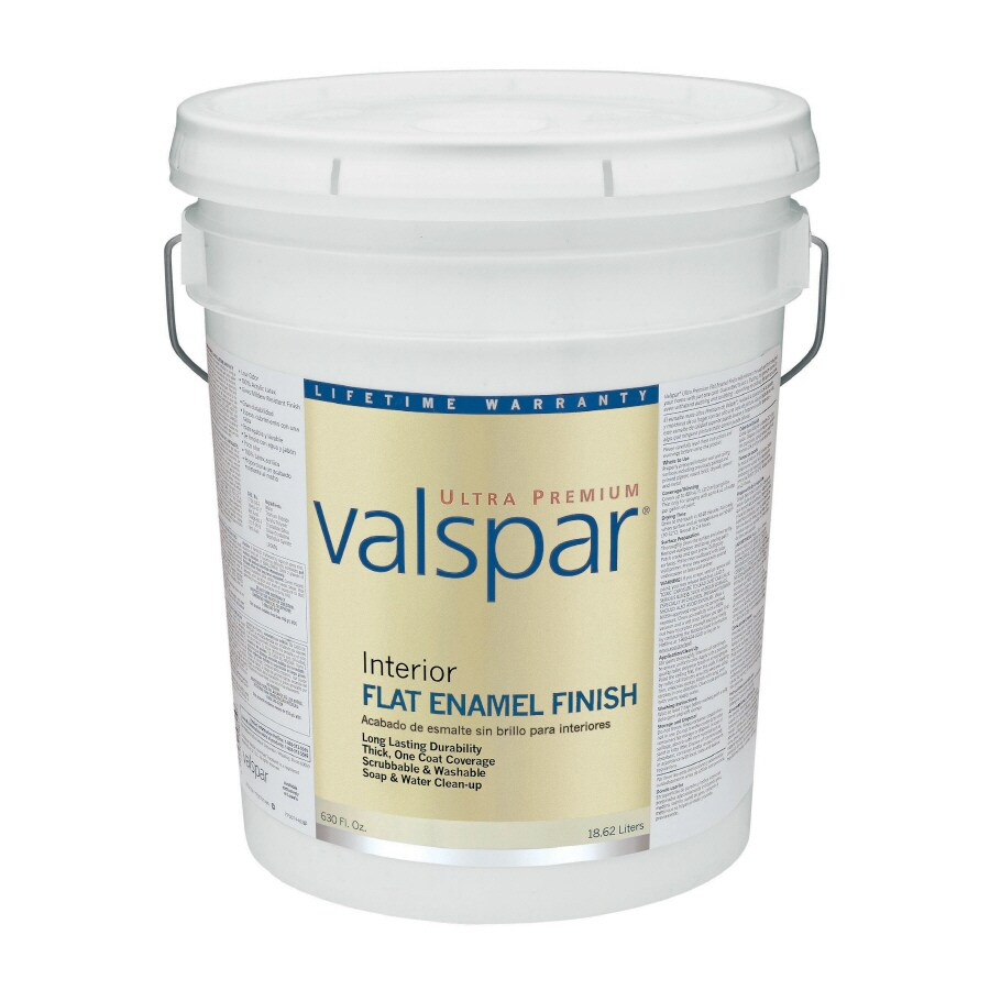 Valspar Ultra Premium 5-Gallon Interior Flat Enamel Tintable Latex-Base Paint