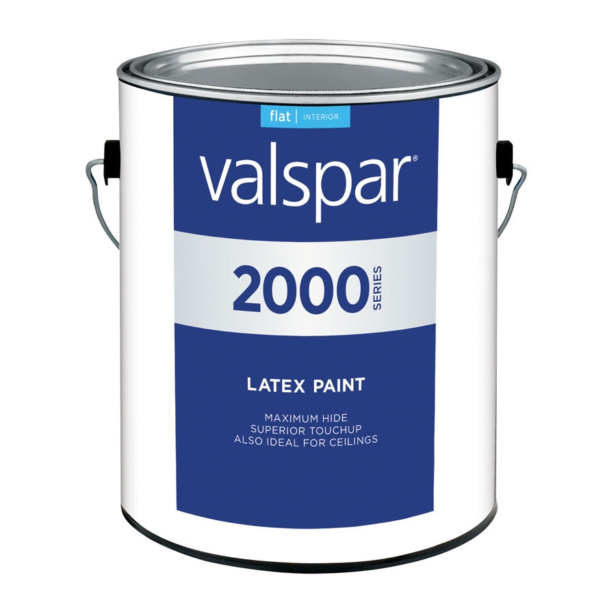 Valspar Contractor Finishes 2000 Pro 2000 Gallon Size Container Interior Flat Tintable White Latex-Base Paint (Actual Net Contents: 120-fl oz)