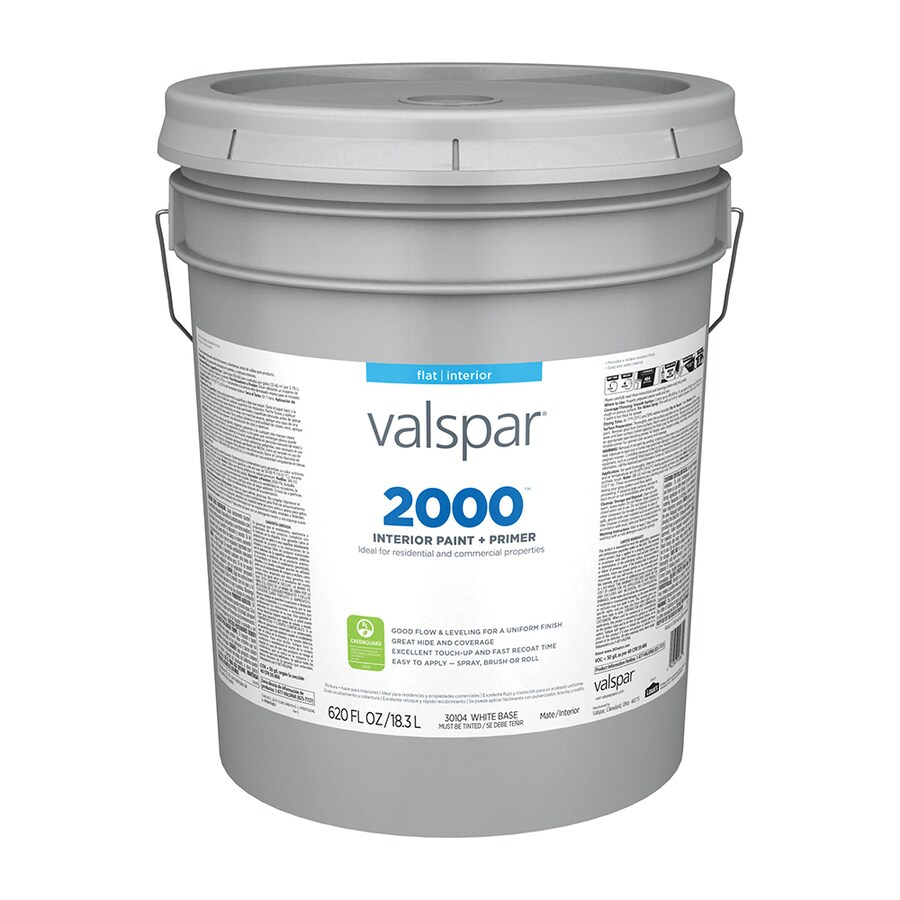 Valspar Contractor Finishes 2000 Ultra 2000 Flat Latex Interior Paint (Actual Net Contents: 620-fl oz)