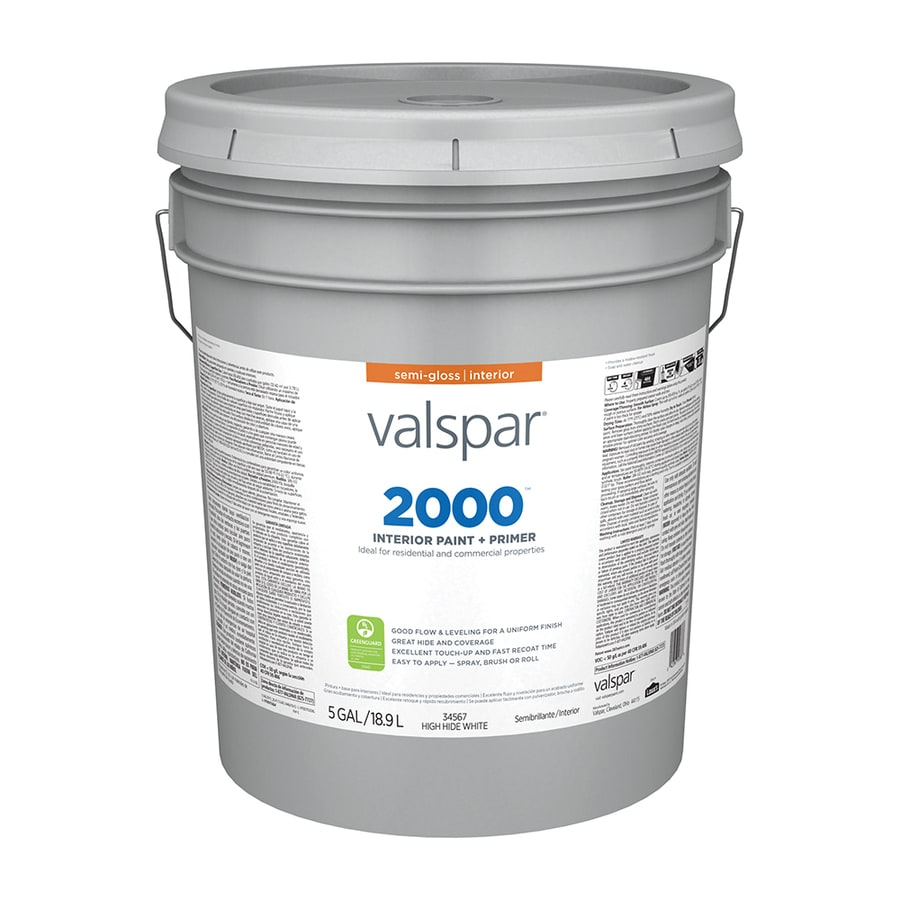 Valspar Contractor Finishes 2000 Ultra 2000 High Hide White Semi-Gloss Latex Interior Paint (Actual Net Contents: 640-fl oz)