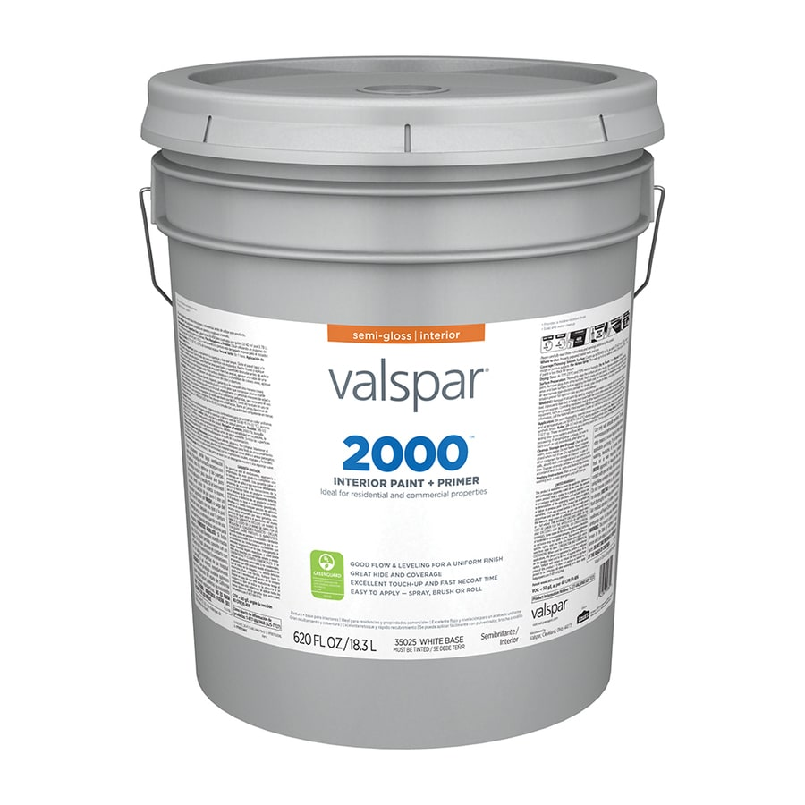 Shop Valspar Ultra 2000 Semi Gloss Latex Interior Paint Actual Net Contents 620 Fl Oz At