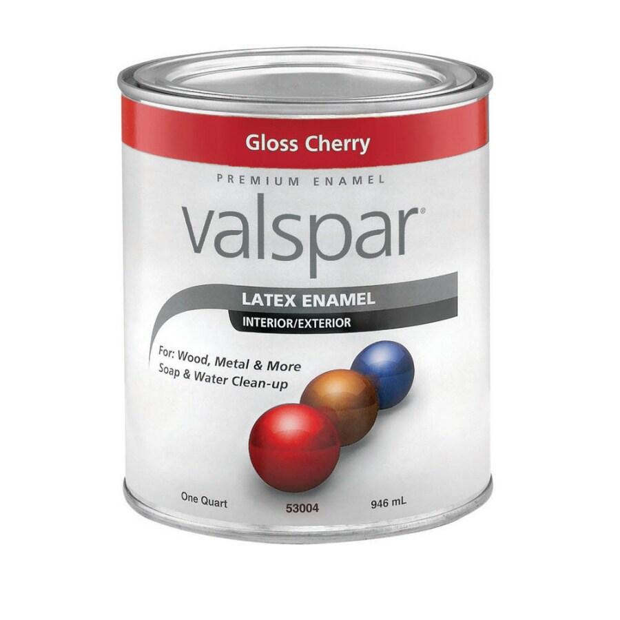 Valspar Cherry Gloss Latex Interior/Exterior Paint (Actual Net Contents: 32-fl oz)