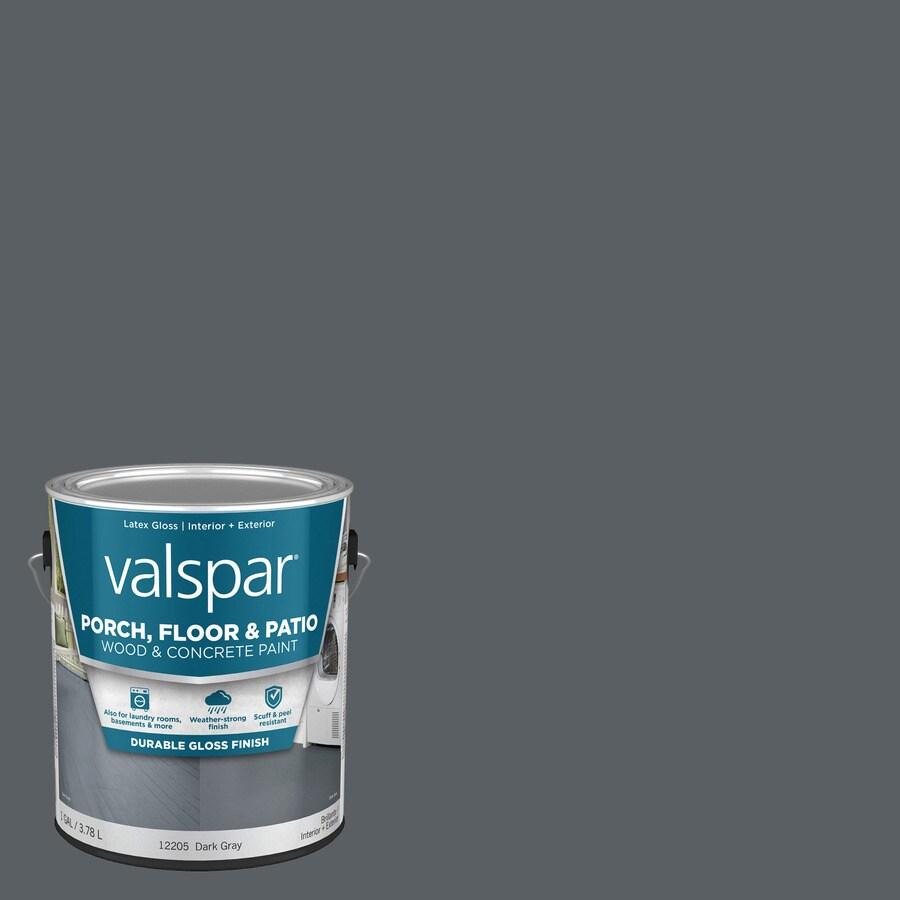 Valspar Porch and Floor Dark Gray Gloss Interior/Exterior Paint (Actual Net Contents: 128-fl oz)