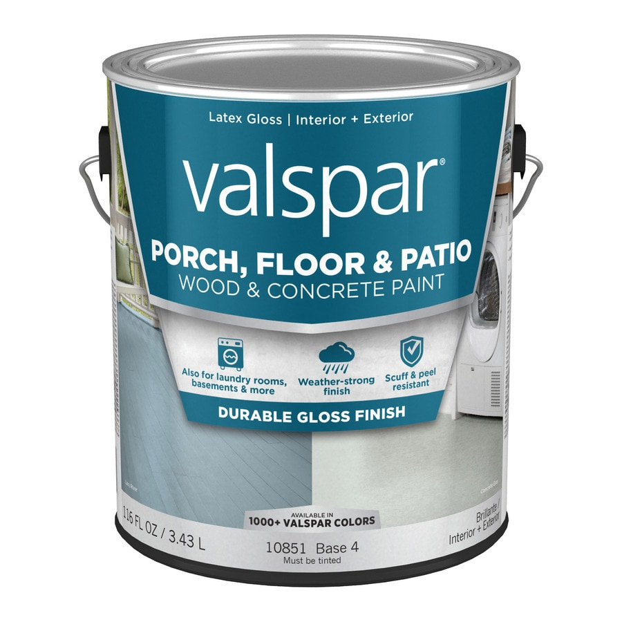 Valspar Porch and Floor Gloss Interior/Exterior Paint (Actual Net Contents: 116-fl oz)