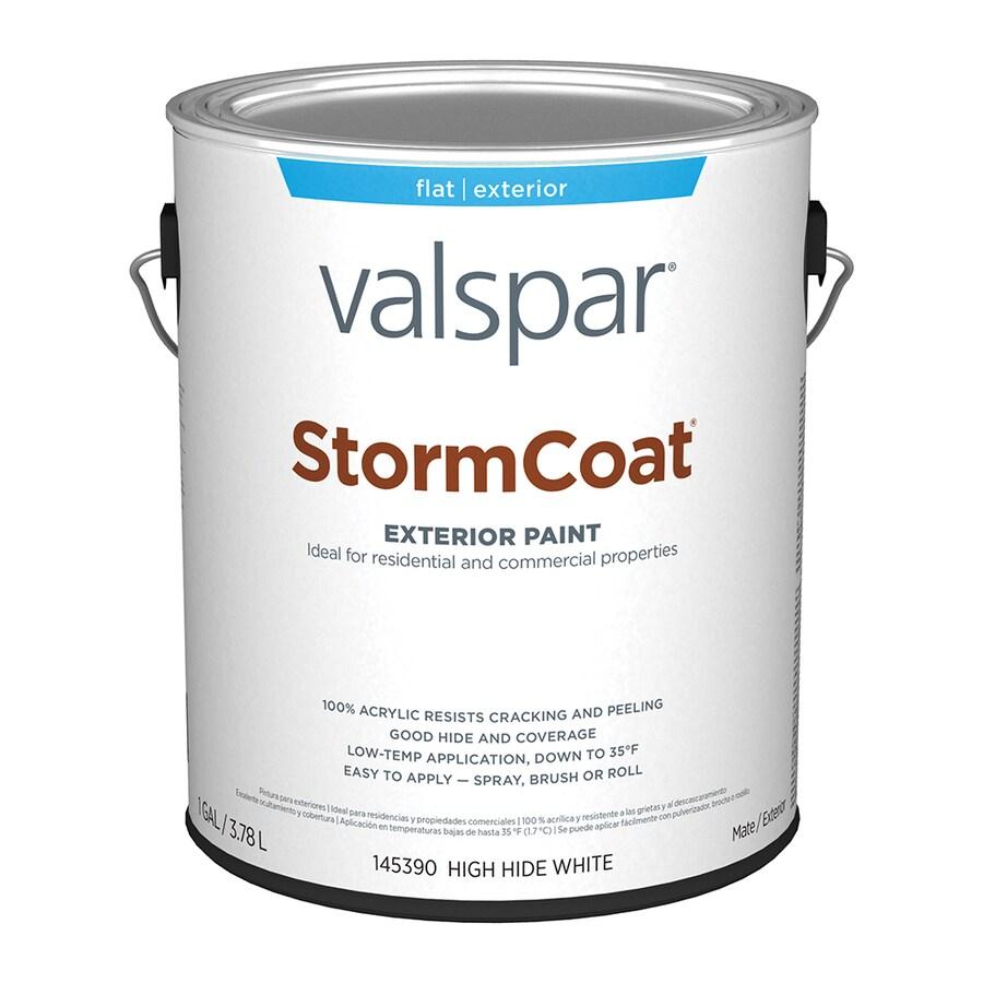 Valspar StormCoat White Flat Exterior Paint (Actual Net Contents: 128-fl oz)