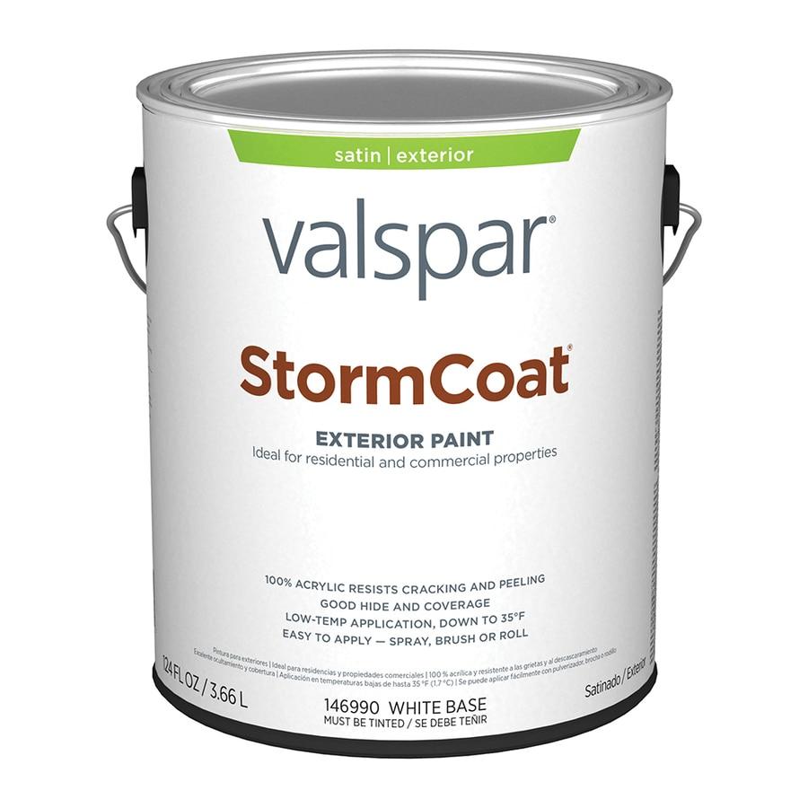 Valspar StormCoat Satin Exterior Paint (Actual Net Contents: 124-fl oz)