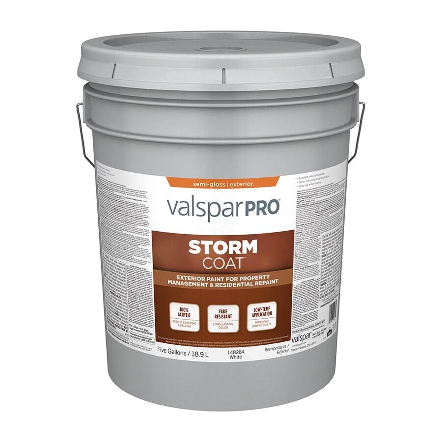 Valspar StormCoat White Semi-Gloss Exterior Paint (Actual Net Contents: 640-fl oz)