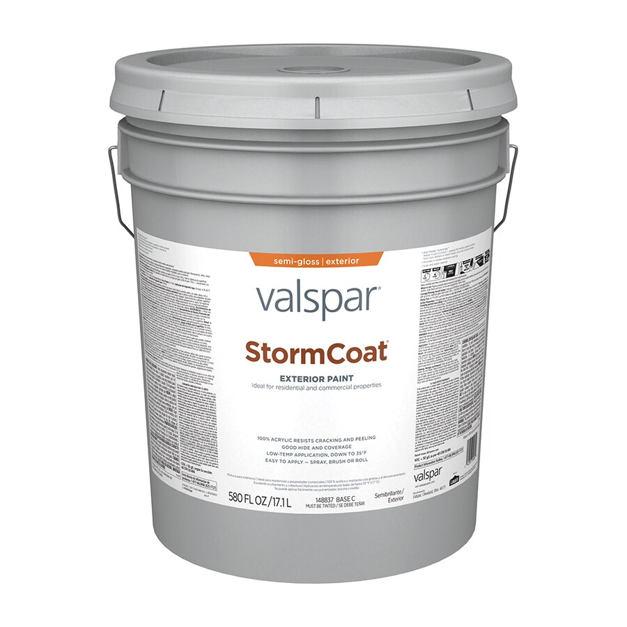 Valspar StormCoat Semi-Gloss Exterior Paint (Actual Net Contents: 580-fl oz)