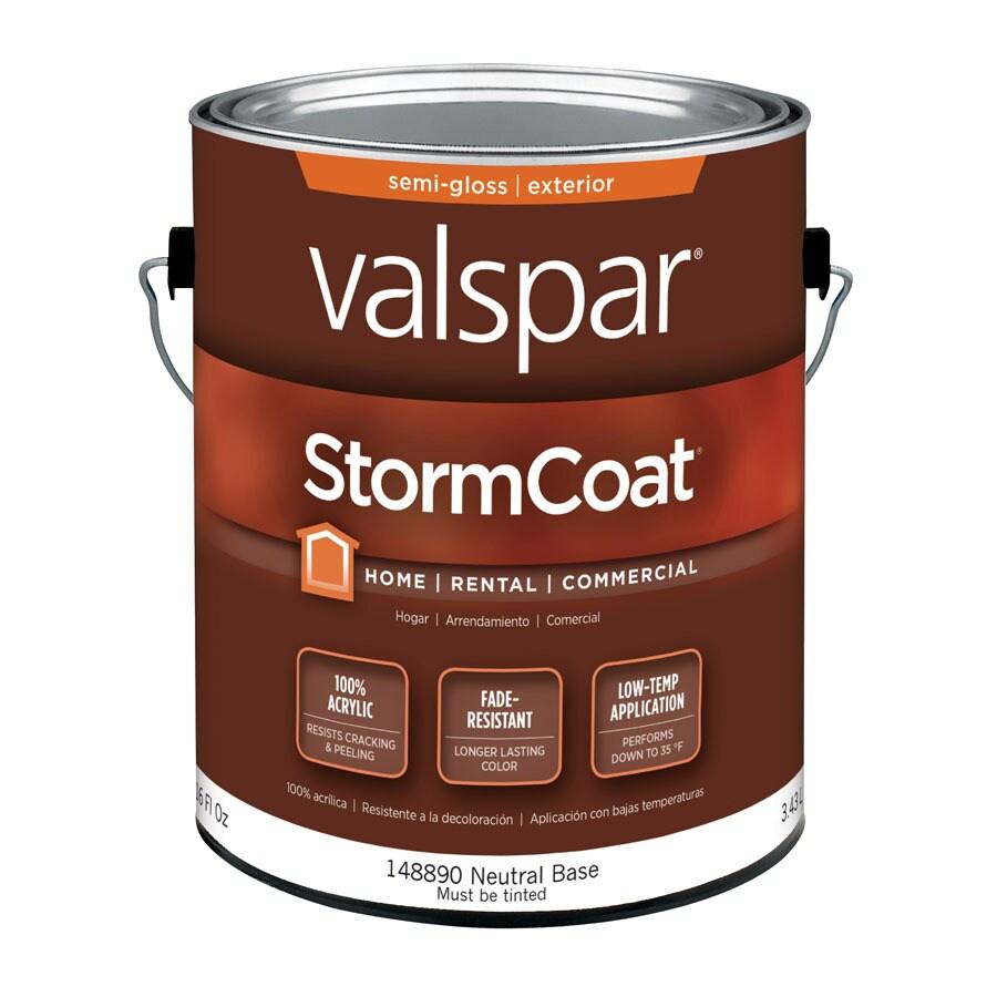 Shop Valspar Storm Coat White Semi Gloss Latex Exterior Paint Actual Net Contents 116 Fl Oz
