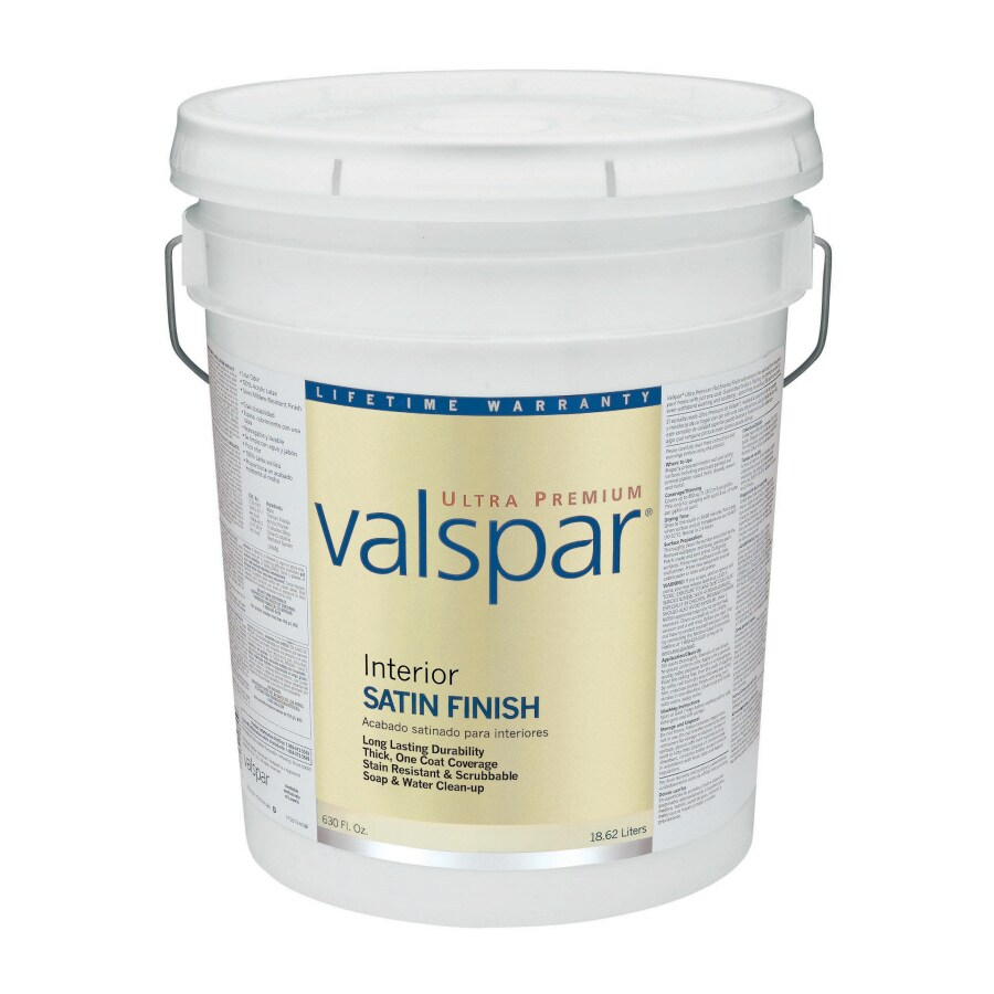Valspar Ultra Premium 5-Gallon Interior Satin Satin Base 4 Latex-Base Paint