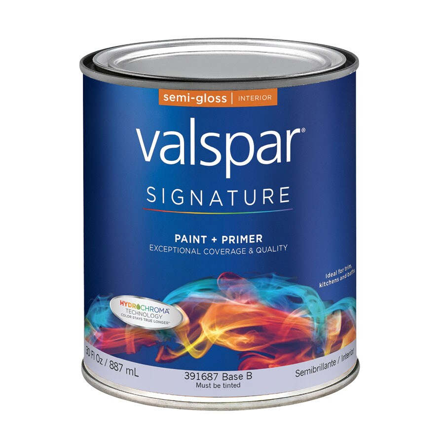 Shop Valspar Signature White Semi Gloss Latex Interior