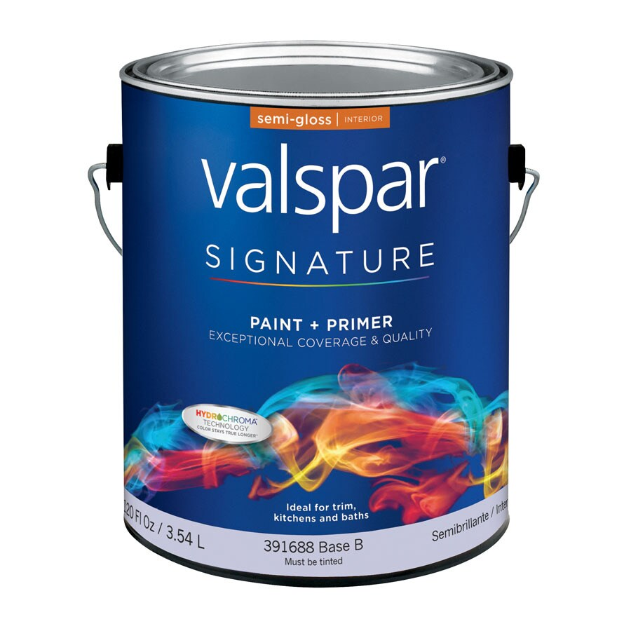 Valspar Signature White Semi-Gloss Latex Interior Paint and Primer in One (Actual Net Contents: 120-fl oz)