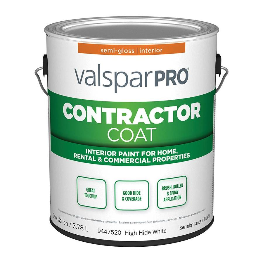 Shop valspar ultra 4000 high hide white semi gloss latex for Flat eggshell semi gloss difference