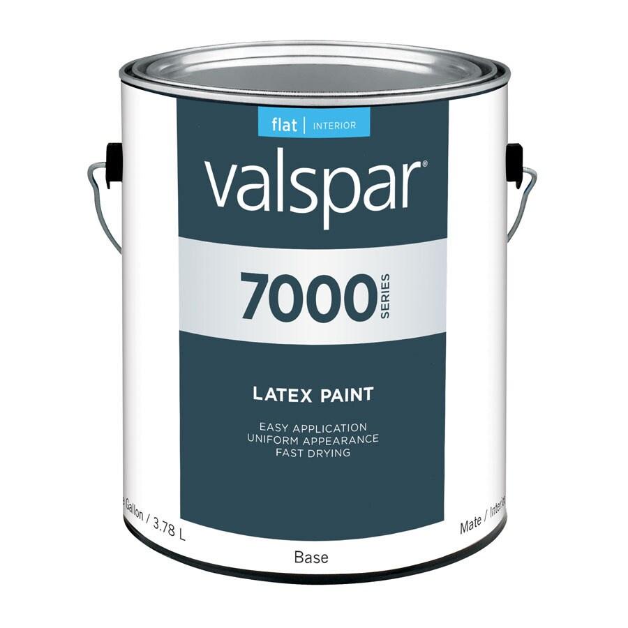 Valspar White Flat Latex Interior Paint (Actual Net Contents: 124-fl oz)