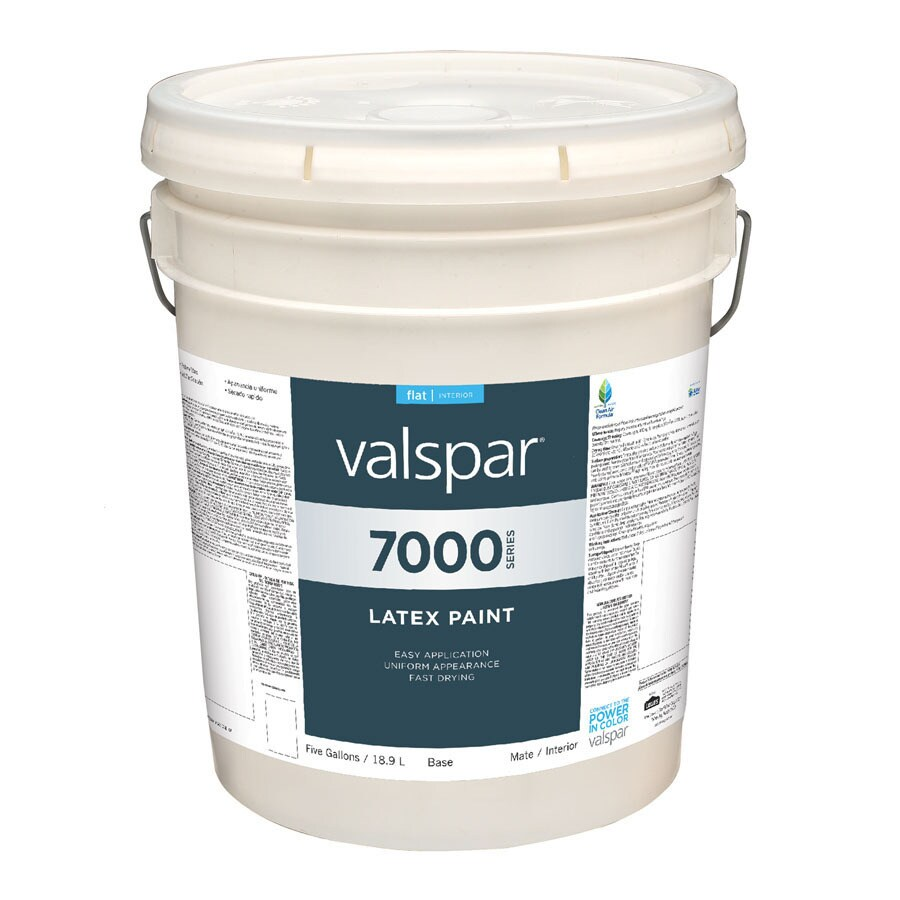 Valspar 5 Gallon Size Container Interior Flat Tintable White Latex-Base Paint (Actual Net Contents: 620-fl oz)
