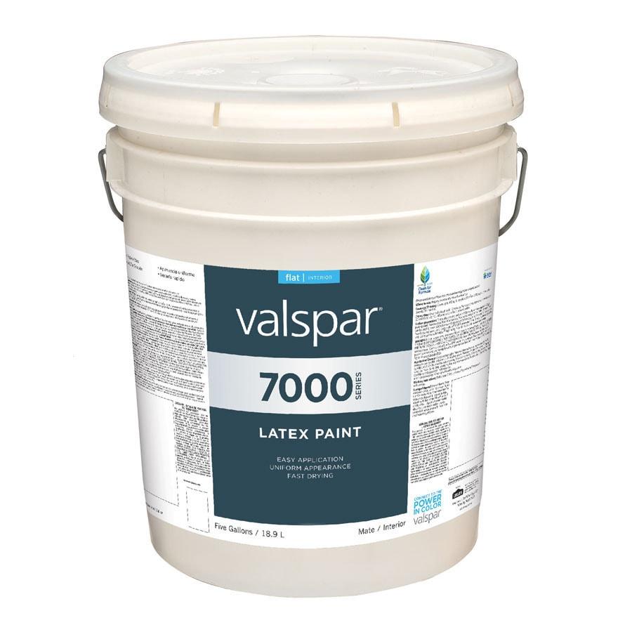 Valspar 5 Gallon Size Container Interior Flat Antique White Latex-Base Paint (Actual Net Contents: 640-fl oz)