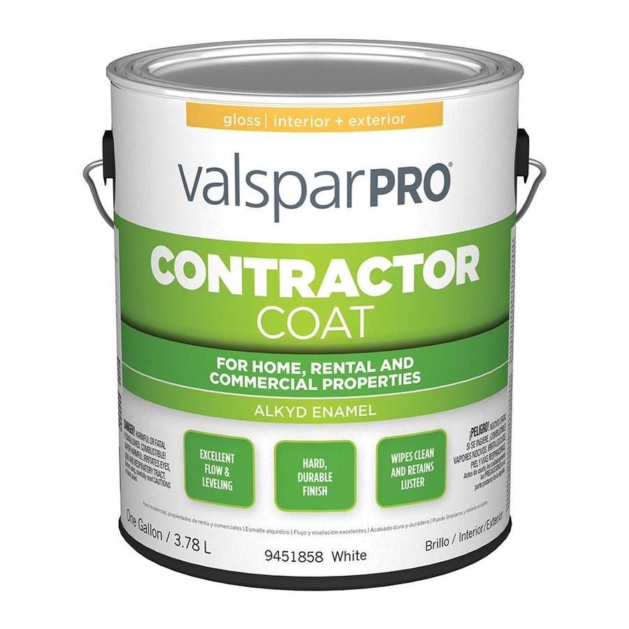 Shop valspar ultra 4000 white gloss oil based enamel interior exterior paint actual net - Exterior white gloss paint image ...