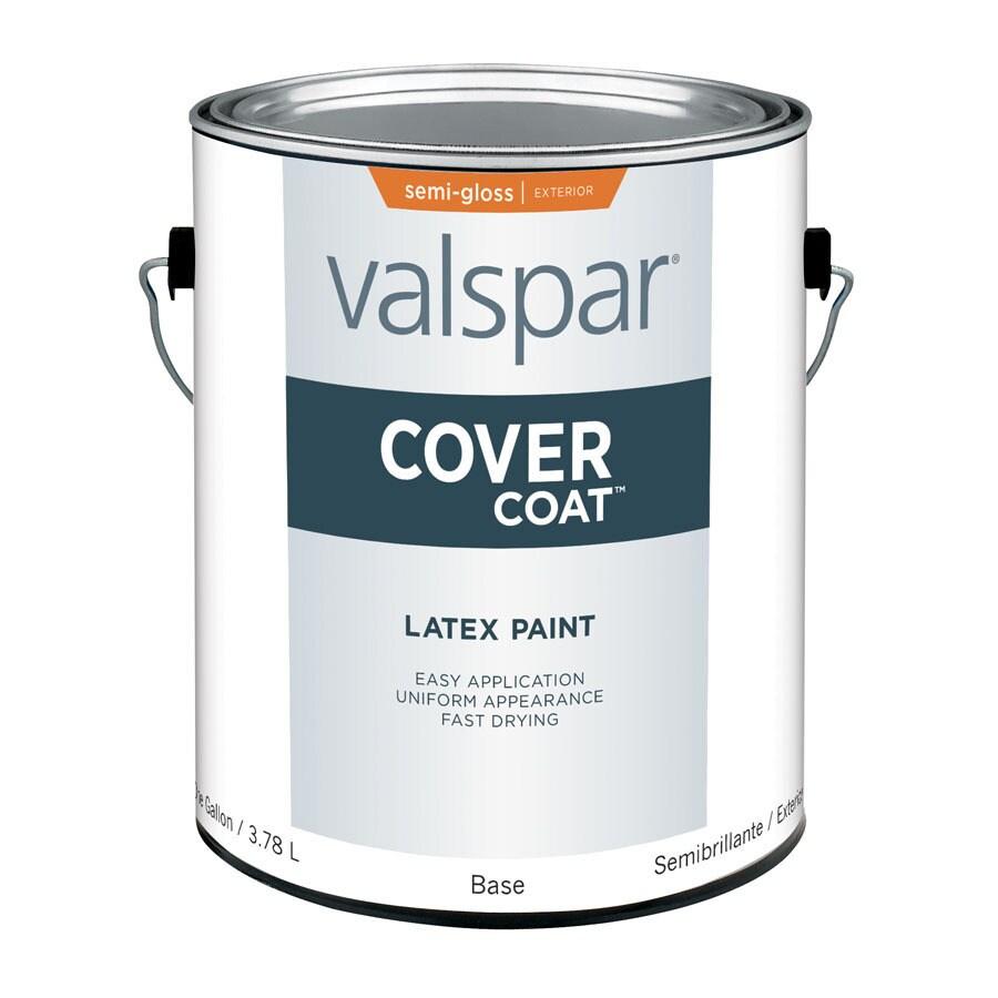 Shop Valspar Gallon Size Container Exterior Semi Gloss Tintable White Latex Base Paint Actual