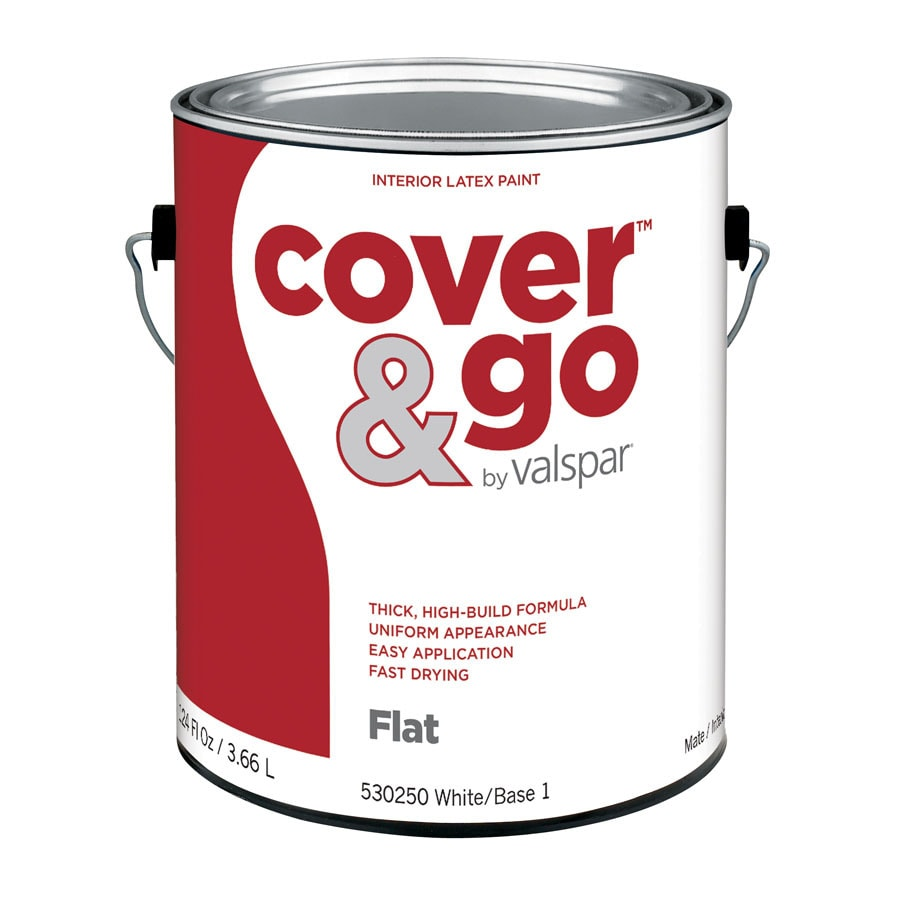 Valspar Cover and Go Gallon Size Container Interior Flat Tintable White Latex-Base Paint (Actual Net Contents: 124-fl oz)