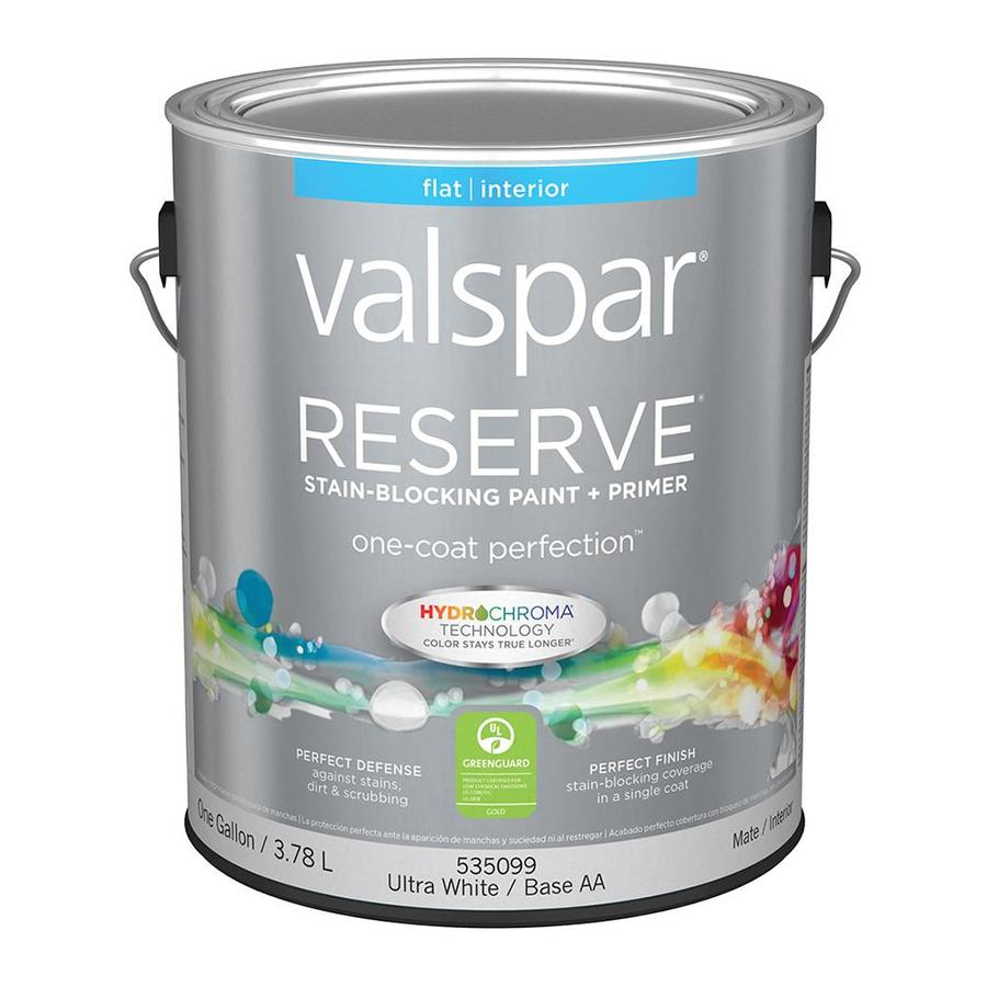 valspar reserve flat latex interior paint and primer in one actual. Black Bedroom Furniture Sets. Home Design Ideas