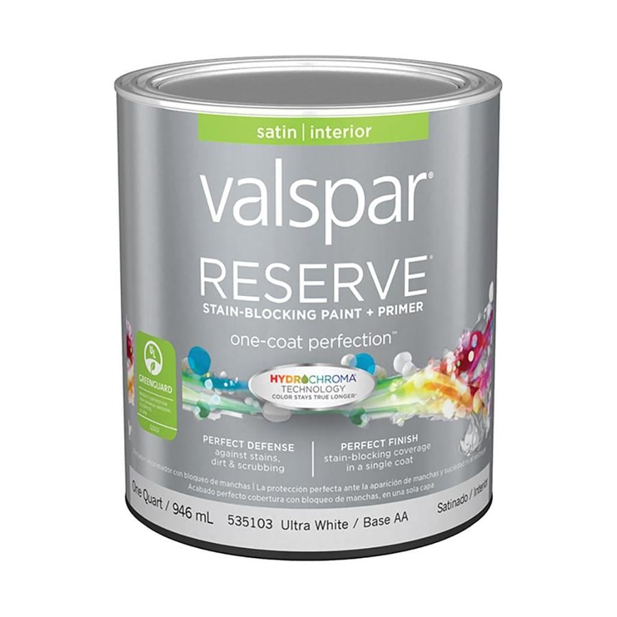 Shop Valspar Reserve Satin Latex Interior Paint And Primer In One Actual Net Contents 32 Fl Oz