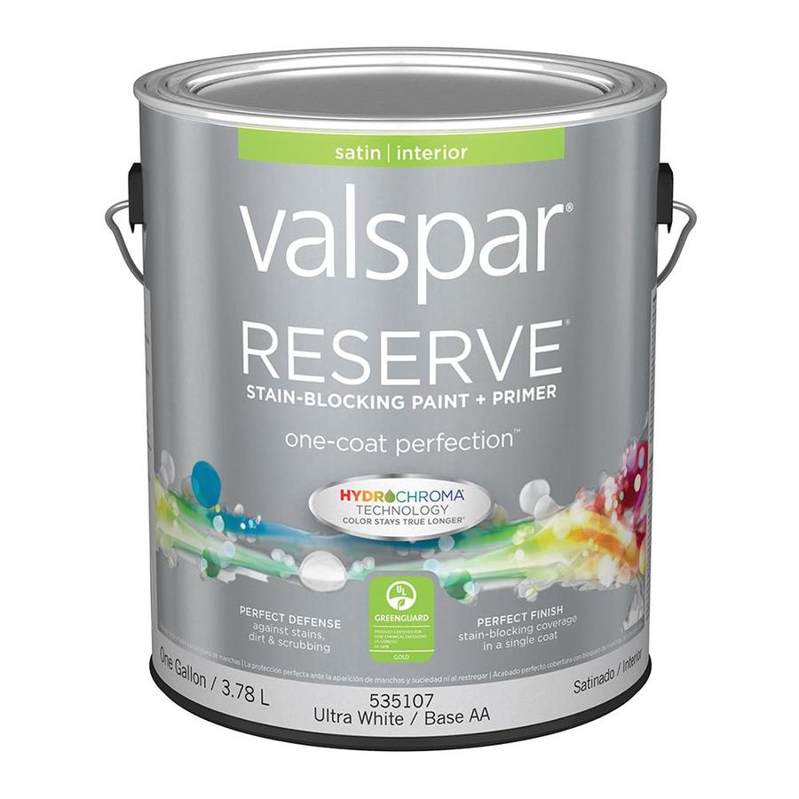 Valspar Reserve Satin Latex Interior Paint and Primer in One (Actual Net Contents: 128-fl oz)